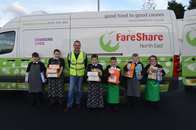 Harvest Festival Y7A Fareshare pic 18th Oct